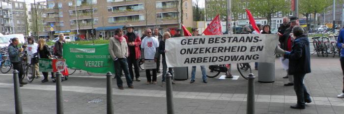 Actie tegen dwangarbeid bij Albert Heijn.