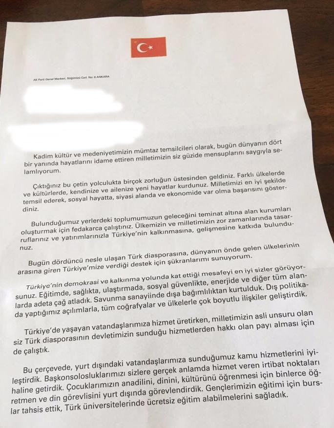 De brief van Erdoğan (pagina 1)