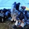 Somalische vluchtelingen bivakkeerden deze winter in tentjes voor de ingang van uitzetcentrum Ter Apel.