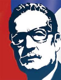 Heldenverering van Salvador Allende.