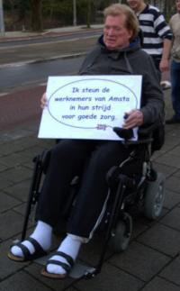 """""""Ik steun de werknemers van Amsta in hun strijd voor goede zorg"""""""