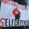 Actiebord op het protest van Utrecht Bekent Kleur op zondag 5 februari (foto: Jan Kees Helms).