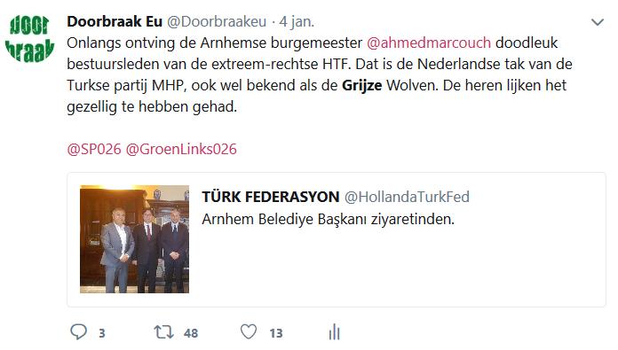 Screenshot van 4 januari. HTF heeft ons inmiddels geblocked op Twitter.