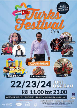 """Een affiche van het omstreden Turkse festival, met alsm hoofdact Ozan Manas die Armeniërs """"het eeuwige zwijgen"""" wil opleggen."""