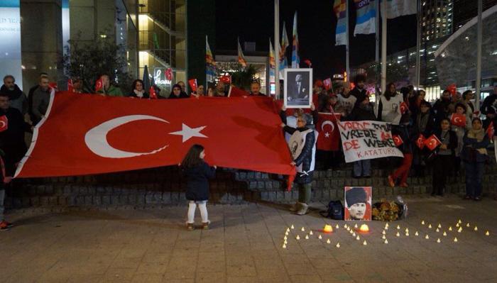 Atatürk-herdenking in Rotterdam.