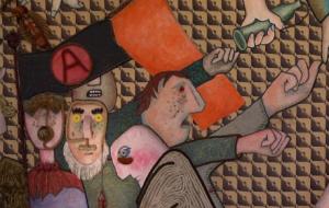 Deel van een schilderij van Baj.