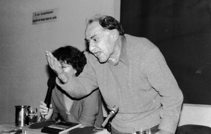 Bookchin op een bijeenkomst in 1984.
