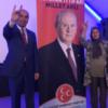 Grijze Wolf Cemal Çetin op verkiezingstournee in Nederland