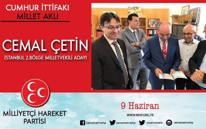 Propagandaplaatje van Cemal Çetink, met links Murat Gedik
