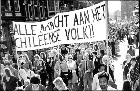 Solidariteits-demonstratie destijds in Nederland.