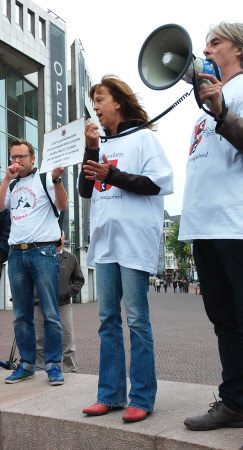 Scherpe toespraak van SP-raadslid Maureen van der Pligt.