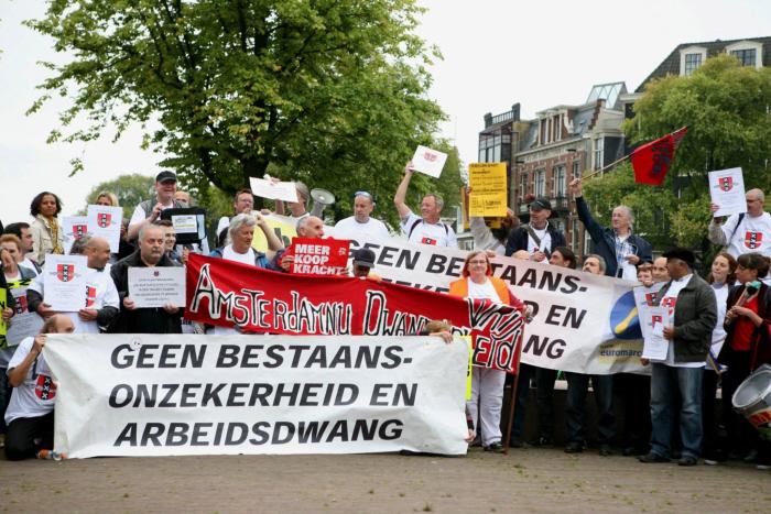 Een aantal van de demonstranten.