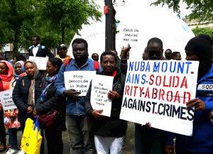 Demonstratie tegen gebruik van chemische wapens door de Soedanese regering.