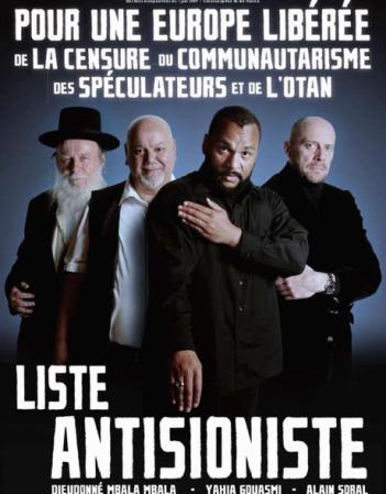 Affiche van de anti-zionistische partij van Dieudonné.