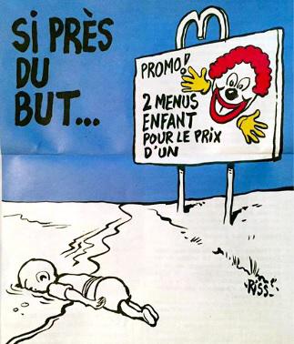 Charlie Hebdo: 'Grap' over verdronken jongetje Aylan.etje