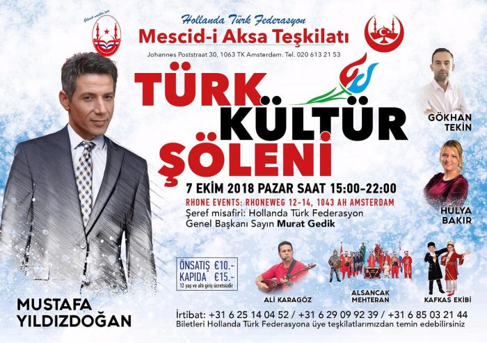 Poster van het festival zonder Orhan Sevcan