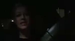 Screenshot uit het duistere filmpje van de Friesin.