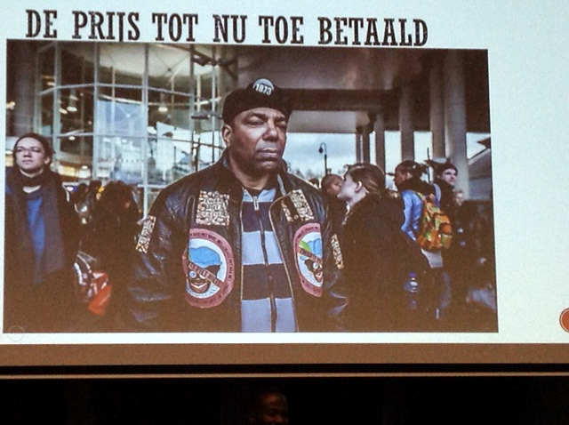 Albert August Balsemhof, ook bekend als 'Bally' en 'Kodjo Kwaku', vorig jaar overleden aan een hartaanval na een protest in Grou waar de activisten bedolven waren onder zeer agressief racisme.