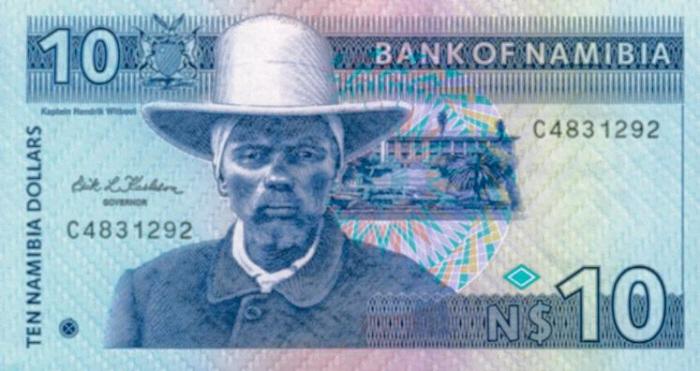 Hendrik Witbooi op biljet van vrij namibie.