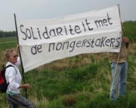 Solidariteit met de hongerstakers.