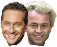 Heinz-Christian Strache en Geert Wilders.