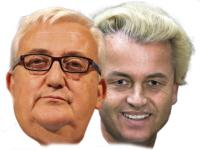 Mario Borghezio en Geert Wilders.