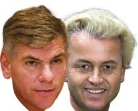 Filip Dewinter en Geert Wilders.