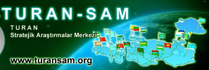 """Banner van de Turan-Sam-website met daarop een kaartje van een """"Groot Turkije"""" dat doorloopt tot aan China."""
