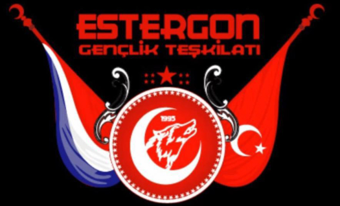 Het logo van de TICS-jongeren organisatie met centraal de Grijze Wolf.