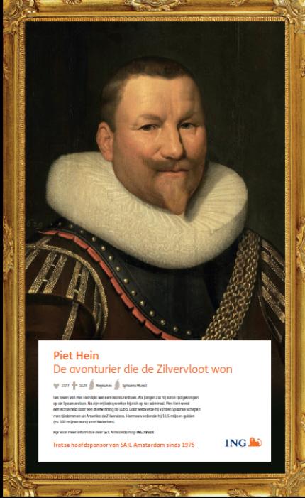 De ING zet ook zeeschurk Piet Hein in.