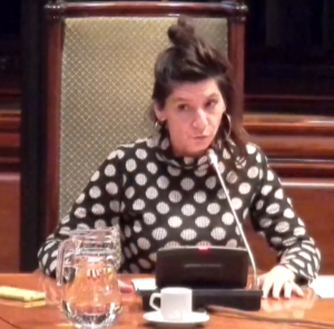 Ioana Tudor aan het woord.