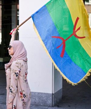Amazigh-vlag (foto: Jeroen van Wisse).
