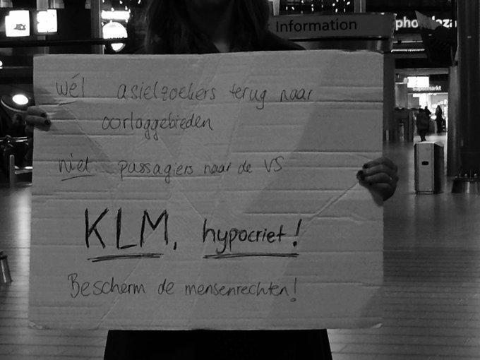 Gisteren op Schiphol.