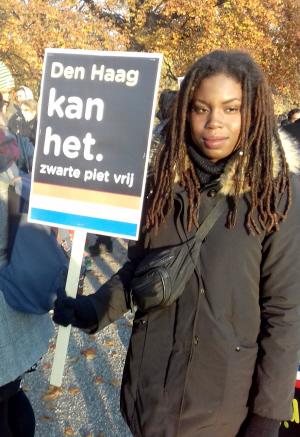 Actievoerster in Den Haag