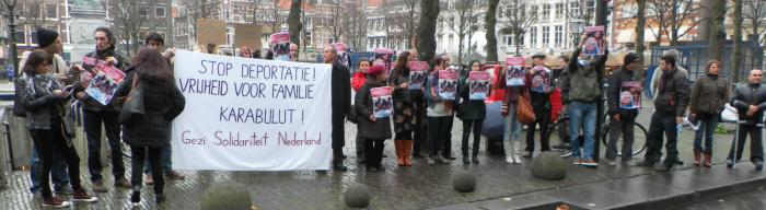 Het protest voor de Tweede Kamer.