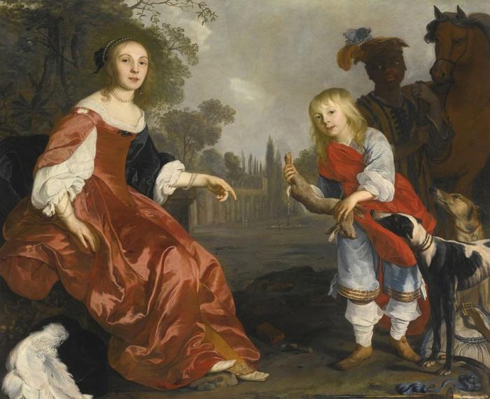 Op de achtergrond een kindslaaf in de ons bekende Pieten-outfit.