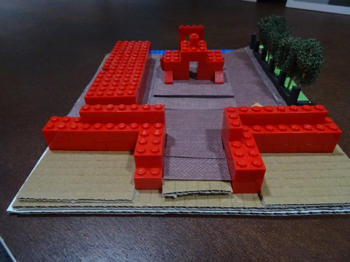 Bijzonder professionele maquette van de nieuwe opzet van het koloniale parkje.