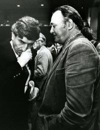 Akkoord van Wassenaar: FNV-er Herman Bode (FNV) in gesprek met toenmalig premier Ruud Lubbers.