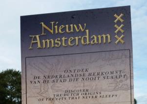 Toen wij Nederlanders aankwamen in wat later Nieuw Amsterdam zou worden, 'was daar niets' aldus de Nieuw Amsterdam-'attractie' in Madurodam.