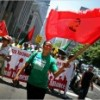 Domestic workers demonstreren voor hun rechten in New York in 2008
