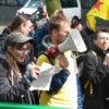Mariët hield haar speech tijdens de demonstratie