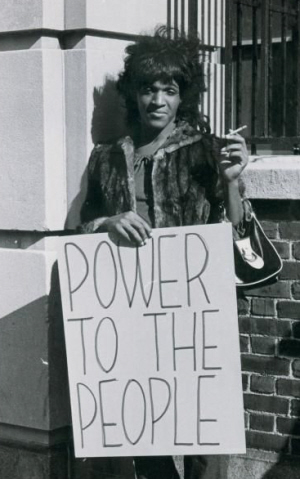 Drag queen Marsha P. Johnson, one of the militant activists at Stonewall.