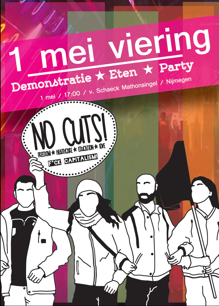 Flyer van de demonstratie.