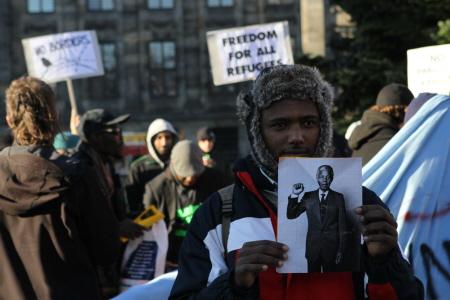 Gisteren, op mensenrechtendag. (Foto: Jan Kees Helms)