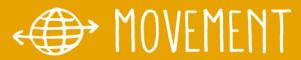 Logo van Movement, het platform van Oneworld over migratie