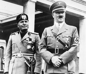 Mussolini en Hitler