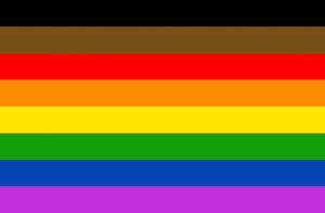 Nieuwe anti-racistische Pride-vlag.