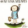 """""""Niet een vrouw minder"""", de slogan van een massale demonstratie tegen (huiselijk) geweld."""