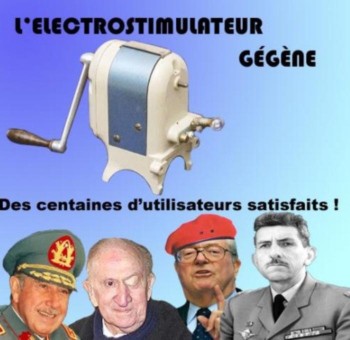 Een aantal tevreden gebruikers van de electro-stimulator Gégène