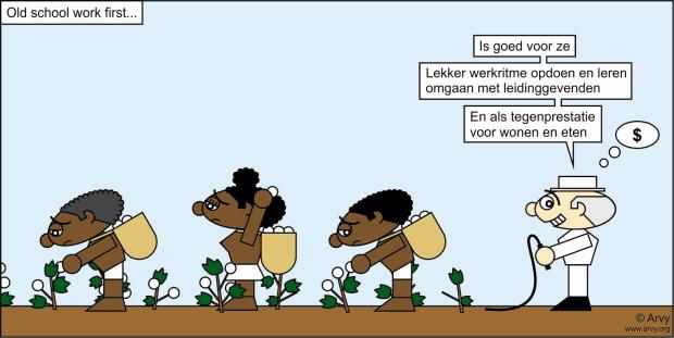 Klik op de cartoon voor de grote versie. (Cartoon: Arvy, meer op www.arvy.org)